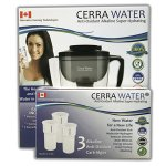 Cerra Water Pitcher + 3 Pack of Replacement Cartridges Bundle